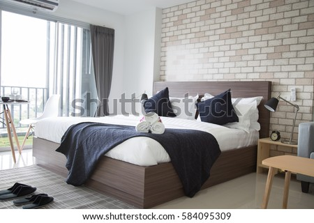 bedroom hotel. Hotel Bedroom Stock Images  Royalty Free Images   Vectors