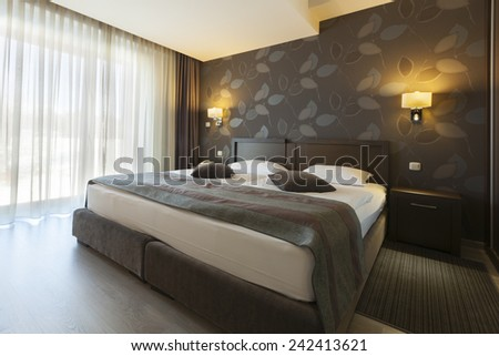 bedroom hotel apartment interior  - stock photo