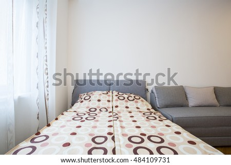 Bedroom in a modern apartment