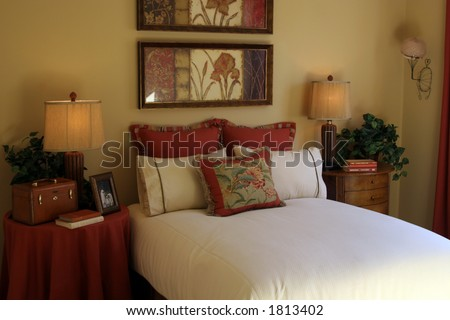 Bedroom interior. - stock photo