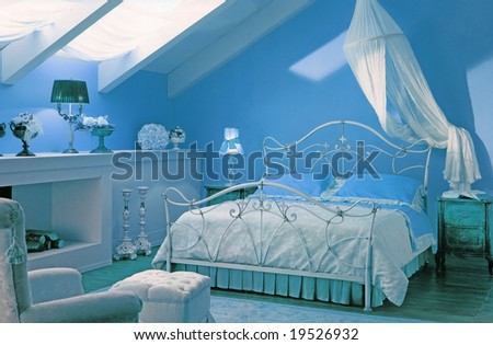 bedroom interior - stock photo