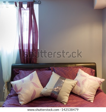 Bedroom interior design in a new house. - stock photo