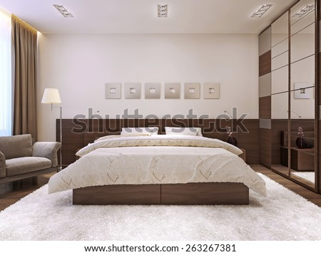 Bedroom Interior In Modern Style 3d Render