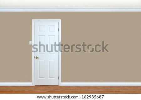 Bedroom Wall Door Baseboard Crown Molding Stock Photo (Royalty Free) 162935687 - Shutterstock & Bedroom Wall Door Baseboard Crown Molding Stock Photo (Royalty Free ...