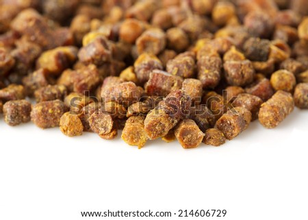 bee bread isolated on white background - stock photo