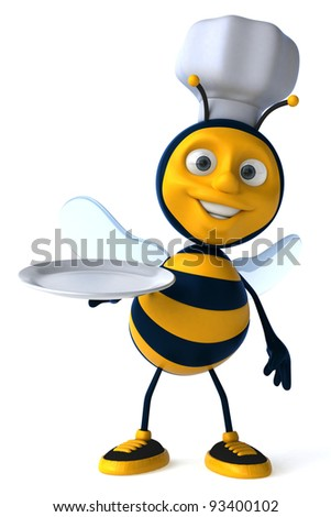 Bee chef - stock photo