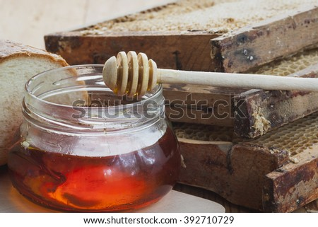 Bee honey is delicious, healthy and therapeutic product