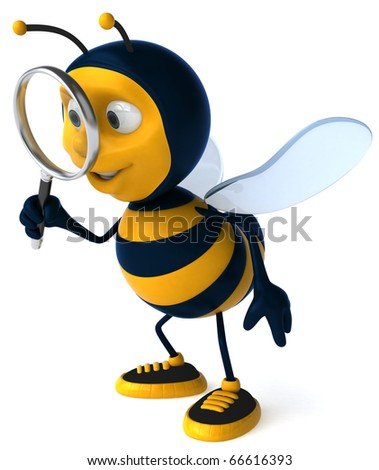 Bee searching - stock photo