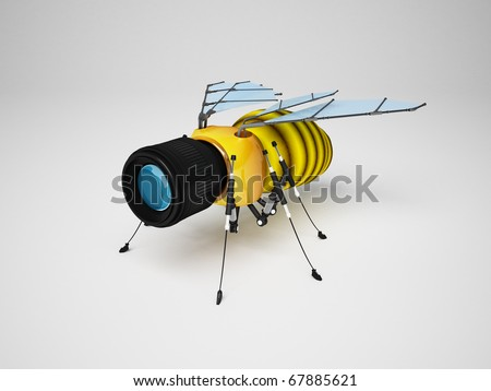 Bee web-cams (security cameras) - stock photo
