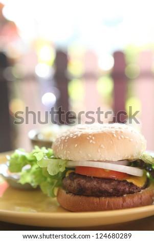Beef Hamburger - stock photo
