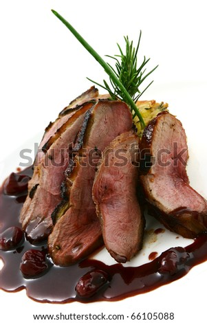 beef in steak sauce with vegetables - stock photo