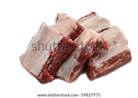 beef meat bone - stock photo