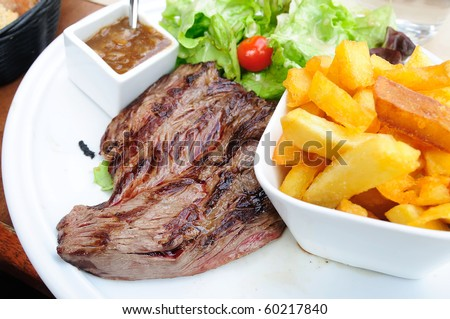 beef meat with tomato and potatoes
