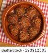 Beef meatballs in tomato sauce. - stock photo