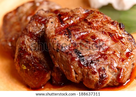 Beef medallions - stock photo