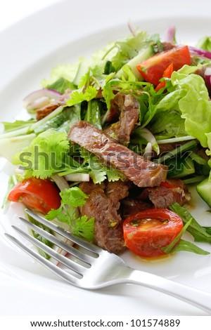 beef salad - stock photo