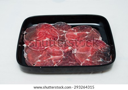 Beef Served on a Plates.