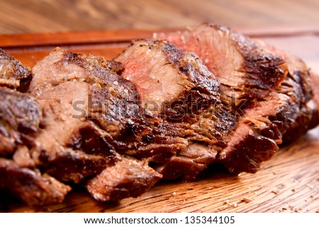 Beef sliced - stock photo