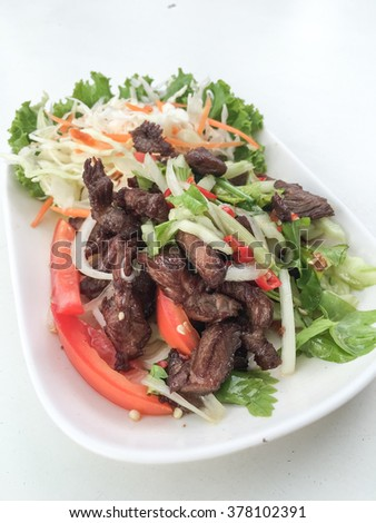 Beef spicy salad thai style