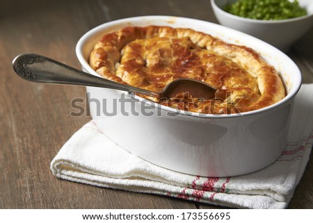 Beef Stew Pie - stock photo