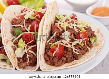 beef taco - stock photo