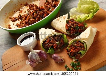 Beef Tortilla - stock photo