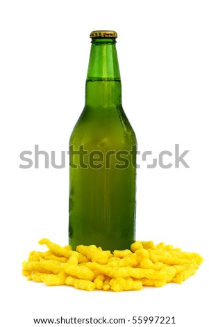 Beer and Chips - stock photo