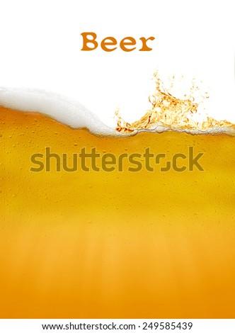 beer background - stock photo