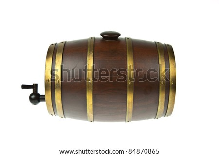 Beer barrel isolated on white background - stock photo
