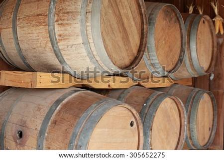 Beer barrels - stock photo
