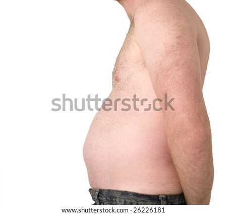 Beer Belly - stock photo