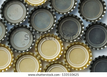 Beer bottle caps - stock photo