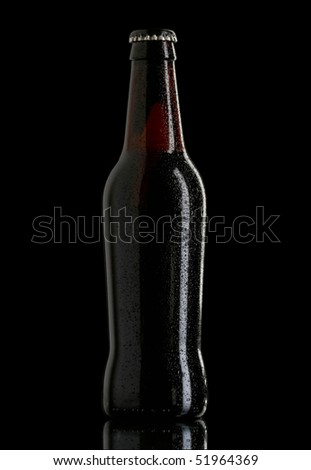 beer bottle dark on black