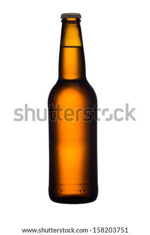 Beer bottle, isolated. - stock photo
