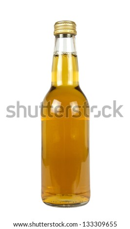 BEER BOTTLE ISOLATED IN WHITE