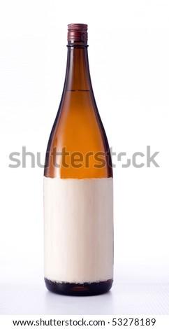 beer bottle japan style - stock photo