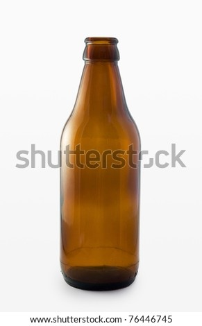Beer bottle on white background - stock photo