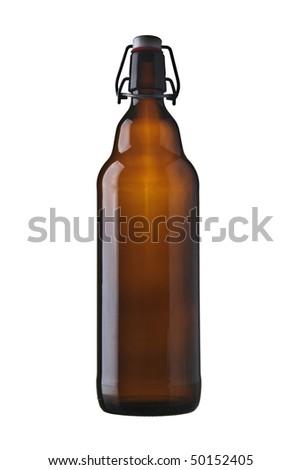 beer bottle retro - stock photo