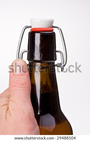 beer bottle with swing top closure - stock photo