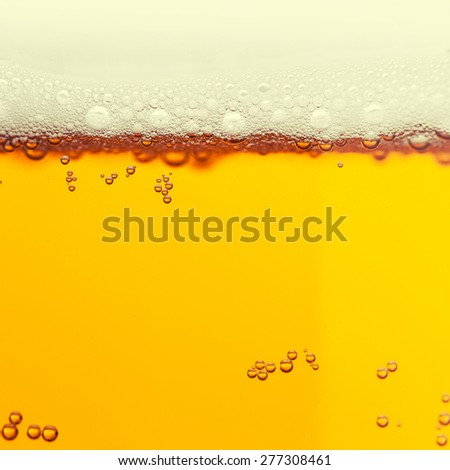 Beer bubbles  - stock photo