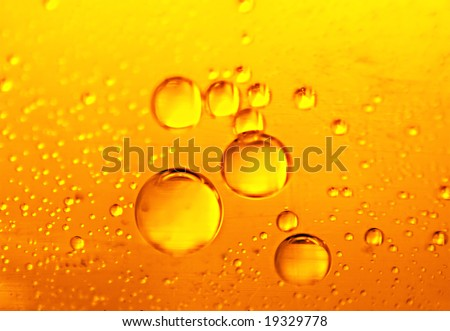 Beer bubbles, an abstract background for the desktop - stock photo