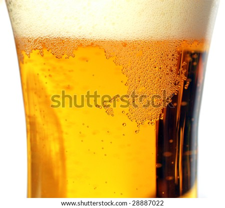 beer bubbles in the glass