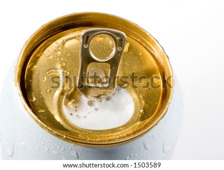 beer can - stock photo