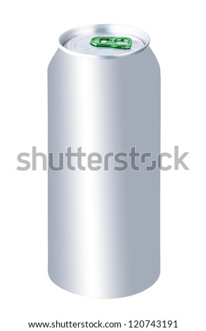 Beer can isolated on white background - stock photo