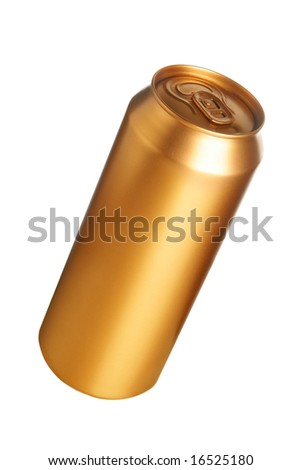 Beer can isolated over white background - stock photo