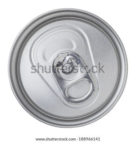 beer canned top view isolated on white background