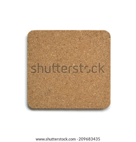Beer coasters isolated on a white background. Add your own design or logo.
