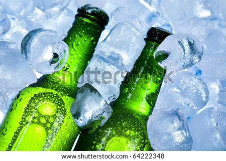 Beer collection, Cold beer bottle - stock photo
