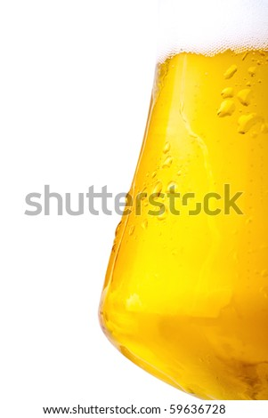 Beer, completely isolated on white background.