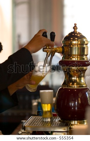 beer dispenser - stock photo
